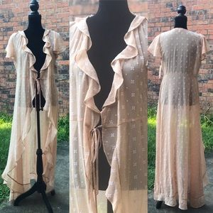 NWT GB Picturesque Tales Tie Front Maxi Dress